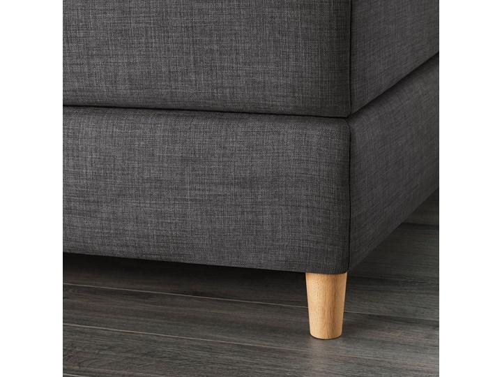 IKEA DUNVIK Łóżko kontynentalne, Vatneström twardy/średnio twardy/Tistedal ciemnoszary, 180x200 cm Łóżko tapicerowane Styl Klasyczny Kategoria Łóżka do sypialni