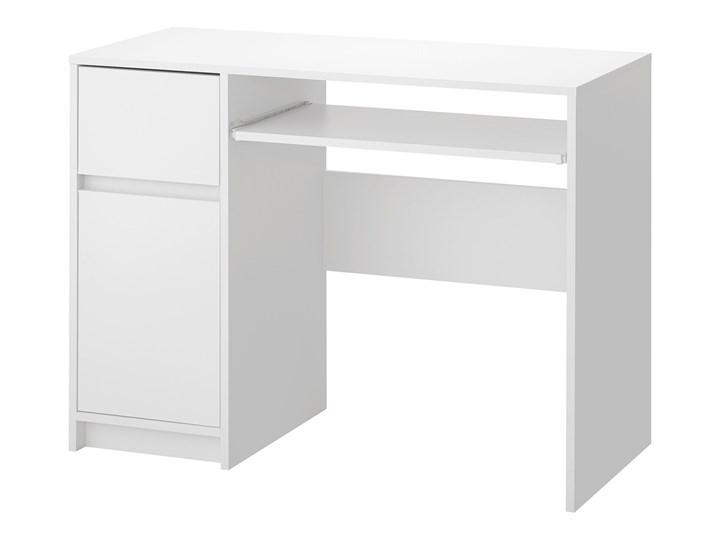 IKEA EJLER Biurko, biały, 100x45 cm Szerokość 100 cm Płyta MDF Pomieszczenie Biuro Kategoria Biurka