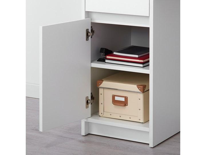 IKEA EJLER Biurko, biały, 100x45 cm Płyta MDF Szerokość 100 cm Pomieszczenie Biuro Kategoria Biurka