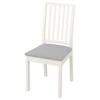 IKEA EKEDALEN Krzesło, biały/Orrsta jasnoszary, Przetestowano dla: 110 kg