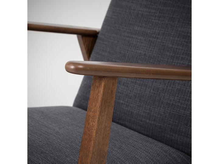 IKEA EKENÄSET Fotel, Hillared antracyt, Szerokość: 64 cm Stal Wysokość 76 cm Tworzywo sztuczne Bawełna Tkanina Drewno Fotel inspirowany Głębokość 78 cm Styl Klasyczny