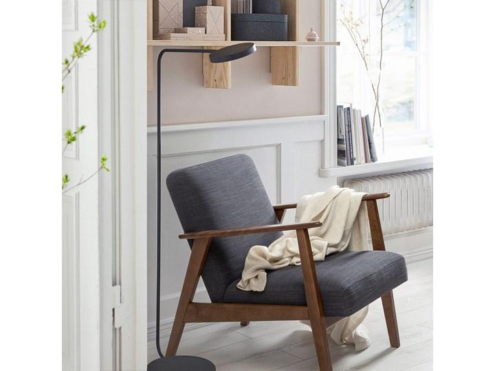 IKEA EKENÄSET Fotel, Hillared antracyt, Szerokość: 64 cm Głębokość 78 cm Stal Tkanina Drewno Fotel inspirowany Styl Vintage Wysokość 76 cm Bawełna Tworzywo sztuczne Kolor Szary