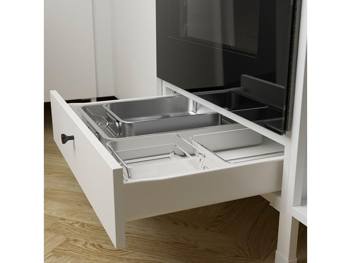 IKEA ENHET Kuchnia narożna, antracyt/biały, Wysokość szafka wisząca: 150 cm Kategoria Zestawy mebli kuchennych Kolor Czarny