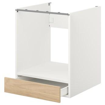 IKEA ENHET Sz stj piek z szu, biały/imit. dębu, 60x62x75 cm