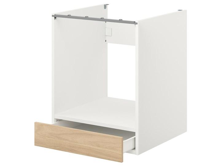 IKEA ENHET Sz stj piek z szu, biały/imit. dębu, 60x62x75 cm Drewno Do zabudowy Szafka dolna Płyta MDF Kategoria Szafki kuchenne