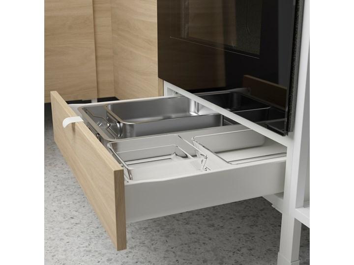 IKEA ENHET Sz stj piek z szu, biały/imit. dębu, 60x62x75 cm Szafka dolna Płyta MDF Drewno Do zabudowy Kategoria Szafki kuchenne