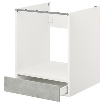 IKEA ENHET Sz stj piek z szu, biały/imitacja betonu, 60x62x75 cm