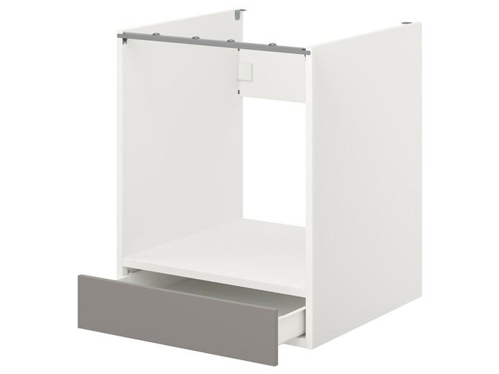 IKEA ENHET Sz stj piek z szu, biały/szary rama, 60x62x75 cm Płyta MDF Szafka dolna Do zabudowy Kategoria Szafki kuchenne