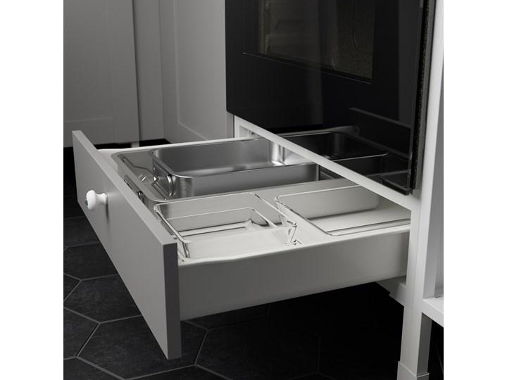 IKEA ENHET Sz stj piek z szu, biały/szary rama, 60x62x75 cm Szafka dolna Płyta MDF Do zabudowy Kategoria Szafki kuchenne