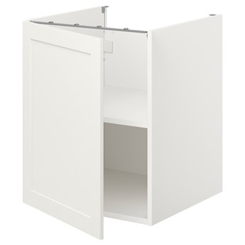 IKEA ENHET Sza st z pół/drzw, biały/biały rama, 60x62x75 cm