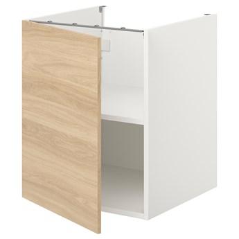 IKEA ENHET Sza st z pół/drzw, biały/imit. dębu, 60x62x75 cm