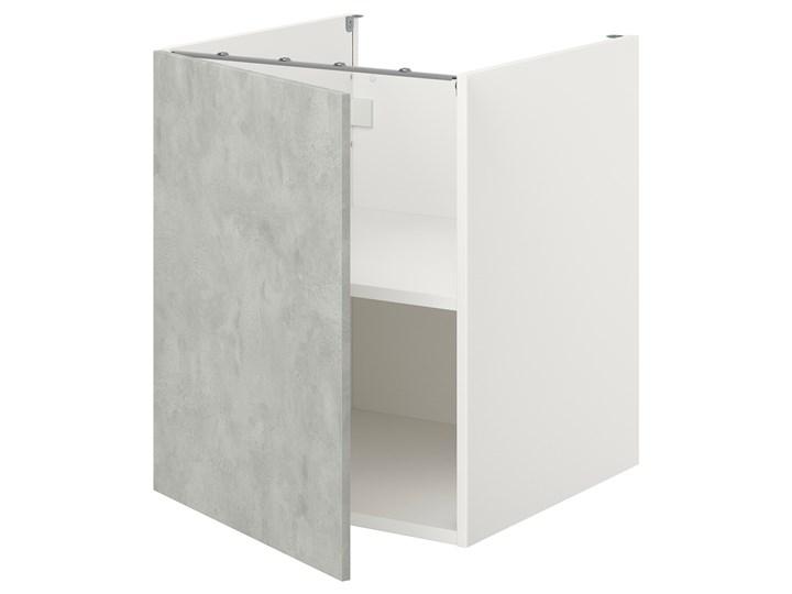 IKEA ENHET Sza st z pół/drzw, biały/imitacja betonu, 60x62x75 cm Kategoria Szafki kuchenne Szafka dolna Płyta MDF Kolor Szary