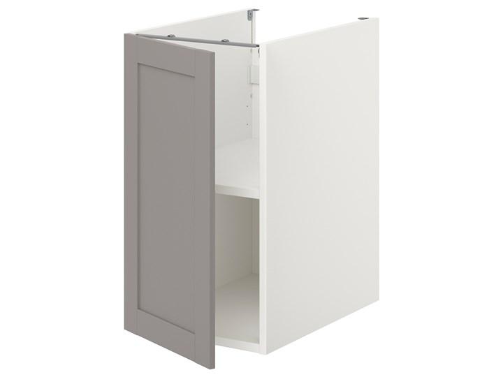 IKEA ENHET Sza st z pół/drzw, biały/szary rama, 40x62x75 cm Płyta MDF Szafka dolna Kategoria Szafki kuchenne