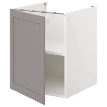 IKEA ENHET Sza st z pół/drzw, biały/szary rama, 60x62x75 cm