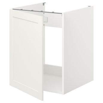 IKEA ENHET Szafka pod zlewozm/drzwi, biały/biały rama, 60x62x75 cm