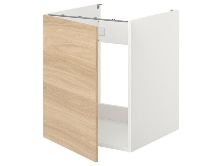 IKEA ENHET Szafka pod zlewozm/drzwi, biały/imit. dębu, 60x62x75 cm Drewno Płyta MDF Kategoria Szafki kuchenne