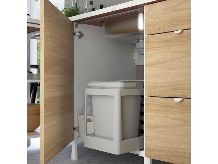 IKEA ENHET Szafka pod zlewozm/drzwi, biały/imit. dębu, 60x62x75 cm Płyta MDF Drewno Kategoria Szafki kuchenne