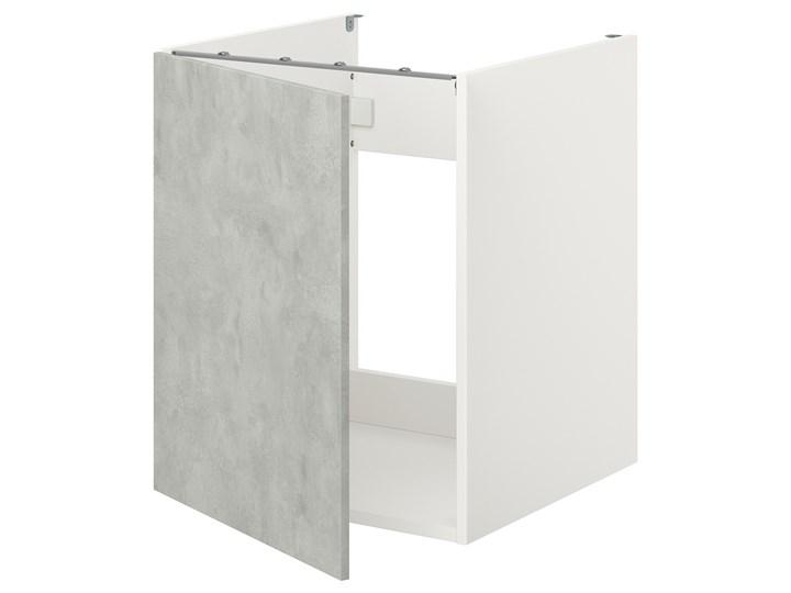 IKEA ENHET Szafka pod zlewozm/drzwi, biały/imitacja betonu, 60x62x75 cm