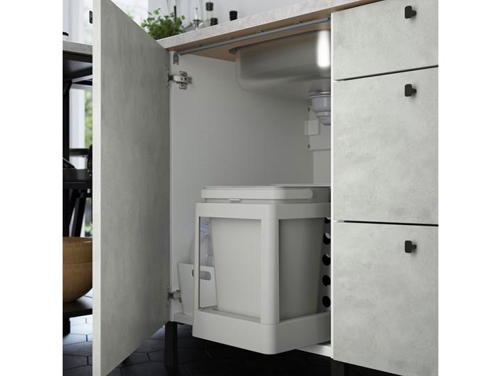 IKEA ENHET Szafka pod zlewozm/drzwi, biały/imitacja betonu, 60x62x75 cm Kategoria Szafki kuchenne Płyta MDF Kolor Szary