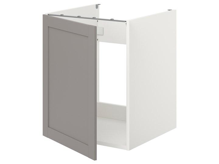 IKEA ENHET Szafka pod zlewozm/drzwi, biały/szary rama, 60x62x75 cm Płyta MDF Kategoria Szafki kuchenne