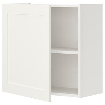 IKEA ENHET Szafka ścienna z 1 półką/drzwiami, biały/biały rama, 60x32x60 cm