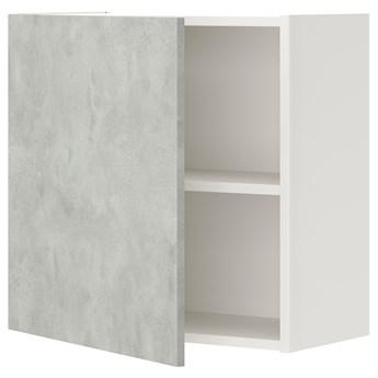 IKEA ENHET Szafka ścienna z 1 półką/drzwiami, biały/imitacja betonu, 60x32x60 cm