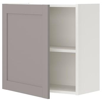 IKEA ENHET Szafka ścienna z 1 półką/drzwiami, biały/szary rama, 60x32x60 cm