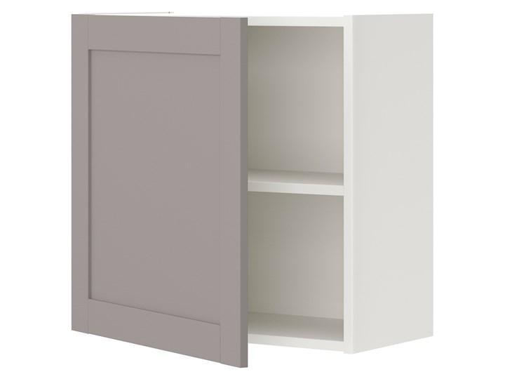 IKEA ENHET Szafka ścienna z 1 półką/drzwiami, biały/szary rama, 60x32x60 cm Szafka wisząca Płyta MDF Kategoria Szafki kuchenne