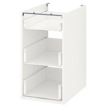 IKEA ENHET Szafka stojąca/3 szuflady, biały, 40x60x75 cm