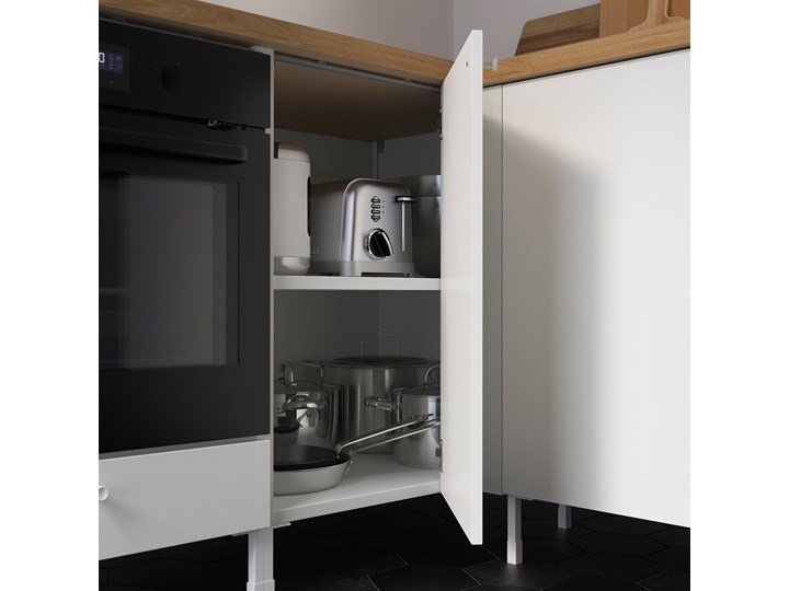 IKEA ENHET Szafka stojąca z półką, biały, 80x60x75 cm Płyta MDF Szafka dolna Kategoria Szafki kuchenne