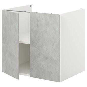 IKEA ENHET Szafka stojąca z półką/drzwi, biały/imitacja betonu, 80x62x75 cm