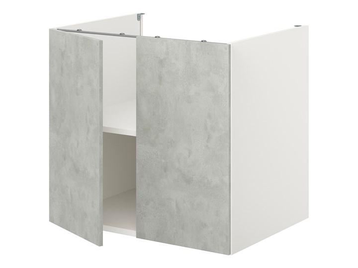 IKEA ENHET Szafka stojąca z półką/drzwi, biały/imitacja betonu, 80x62x75 cm Kategoria Szafki kuchenne Płyta MDF Szafka dolna Kolor Szary