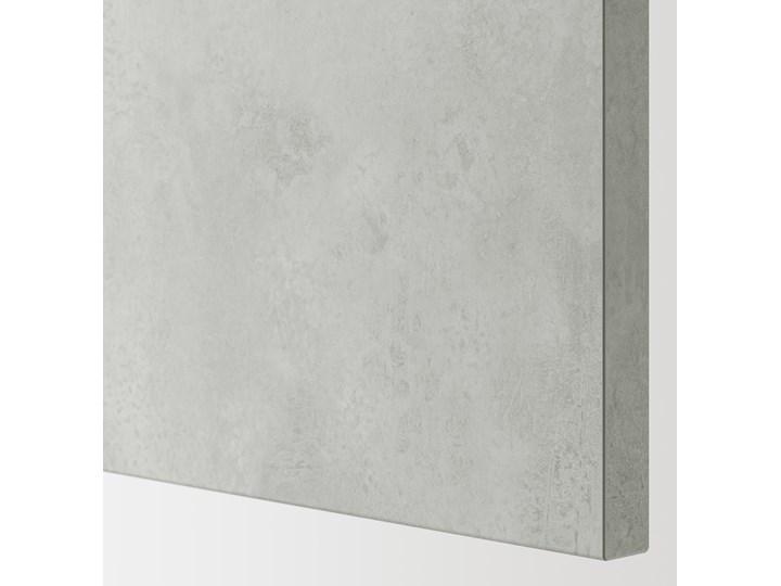 IKEA ENHET Szafka stojąca z półką/drzwi, biały/imitacja betonu, 80x62x75 cm Szafka dolna Płyta MDF Kategoria Szafki kuchenne Kolor Szary