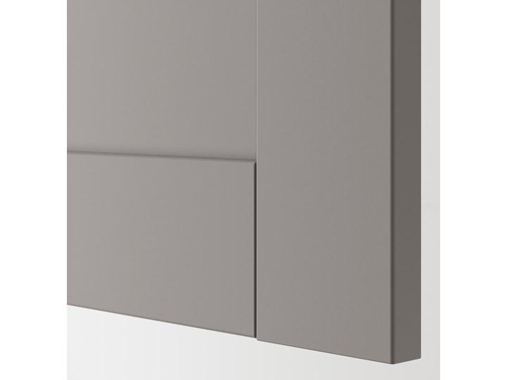 IKEA ENHET Szafka stojąca z półką/drzwi, biały/szary rama, 80x62x75 cm Płyta MDF Szafka dolna Kategoria Szafki kuchenne