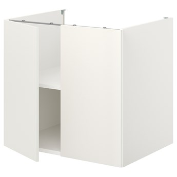 IKEA ENHET Szafka stojąca z półką/drzwi, biały, 80x62x75 cm