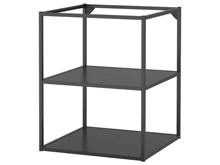 IKEA ENHET Szafka stojąca z półkami, antracyt, 60x60x75 cm