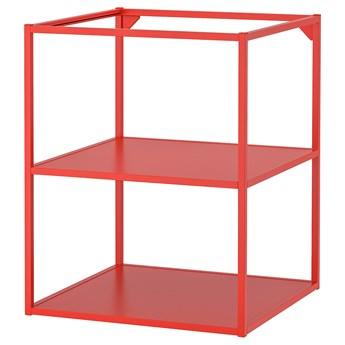 IKEA ENHET Szafka stojąca z półkami, czerwono-pomarańczowy, 60x60x75 cm