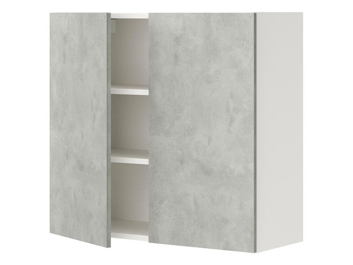 IKEA ENHET Szafka wisząca 2 półki/drzwiczki, biały/imitacja betonu, 80x32x75 cm Płyta MDF Kategoria Szafki kuchenne