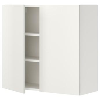 IKEA ENHET Szafka wisząca 2 półki/drzwiczki, biały, 80x32x75 cm