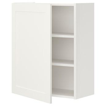 IKEA ENHET Szafka wisząca 2półki/drzwi, biały/biały rama, 60x32x75 cm