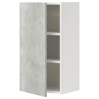 IKEA ENHET Szafka wisząca 2półki/drzwi, biały/imitacja betonu, 40x32x75 cm