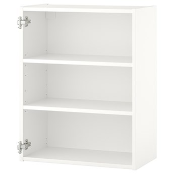 IKEA ENHET Szafka wisząca z 2 półkami, biały, 60x30x75 cm