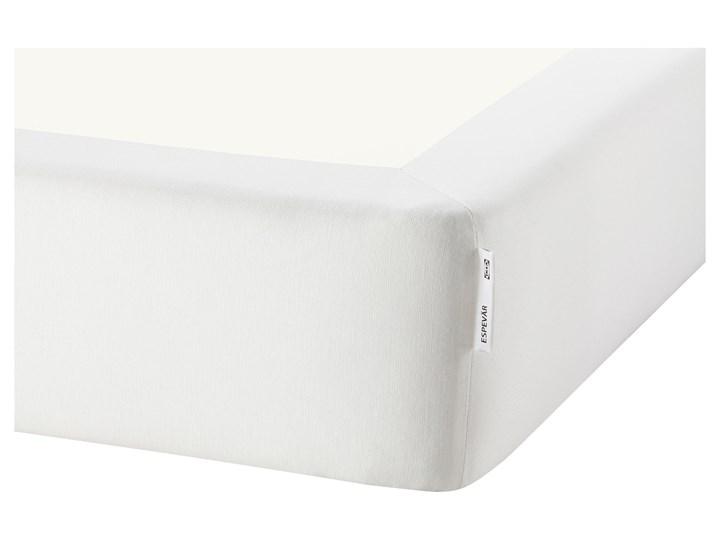 IKEA ESPEVÄR/VÅGSTRANDA Łóżko kontynentalne, biały/średnio twardy jasnoniebieski, 180x200 cm Łóżko pikowane Kategoria Łóżka do sypialni