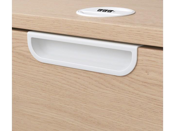 IKEA GALANT Kombinacja z szufladami, Okleina dębowa bejcowana na biało, 80x160 cm Kolor Beżowy