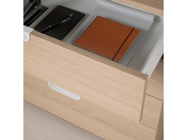 IKEA GALANT Kombinacja z szufladami, Okleina dębowa bejcowana na biało, 80x160 cm Kolor Beżowy Kategoria Zestawy mebli do sypialni