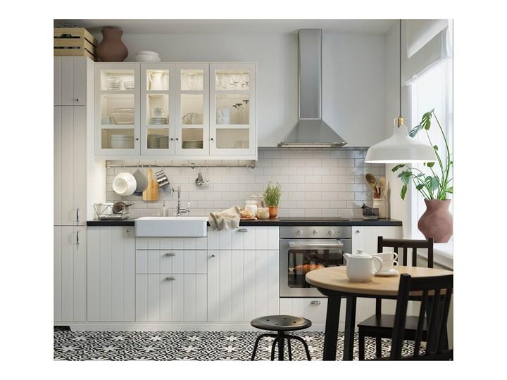 IKEA GAMLARED Stół, bejca jasna patyna/bejcowane na czarno, 85 cm Drewno Sosna Rozkładanie