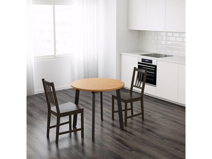 IKEA GAMLARED Stół, bejca jasna patyna/bejcowane na czarno, 85 cm Drewno Kolor Czarny Sosna Kategoria Stoły kuchenne