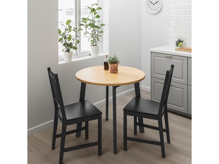IKEA GAMLARED Stół, bejca jasna patyna/bejcowane na czarno, 85 cm Drewno Sosna Kategoria Stoły kuchenne