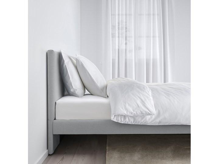 IKEA GLADSTAD Tapicerowana rama łóżka, Kabusa jasnoszary, 160x200 cm Tkanina Styl Nowoczesny Łóżko tapicerowane Zagłówek Z zagłówkiem