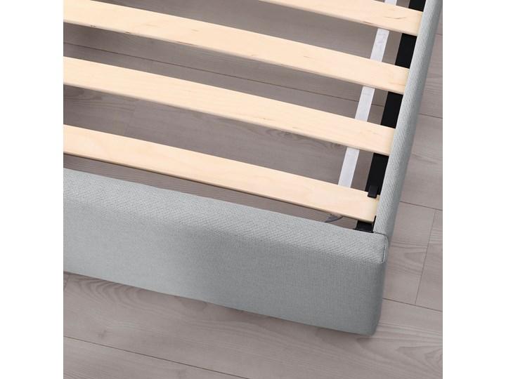 IKEA GLADSTAD Tapicerowana rama łóżka, Kabusa jasnoszary, 160x200 cm Tkanina Łóżko tapicerowane Kategoria Łóżka do sypialni